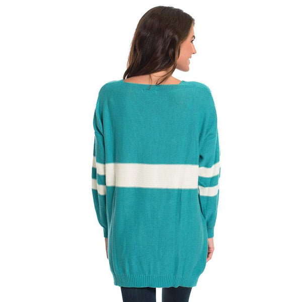 Varsity Sweater in Baltic by The Southern Shirt Co. - FINAL SALE