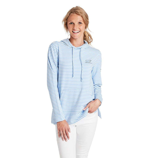 Vineyard Vines Long Sleeve Striped Whale Terry Hoodie by Vineyard Vines