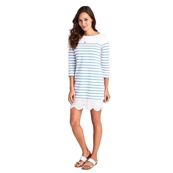 Vineyard Vines Long Sleeve Lace Hem Dress by Vineyard Vines