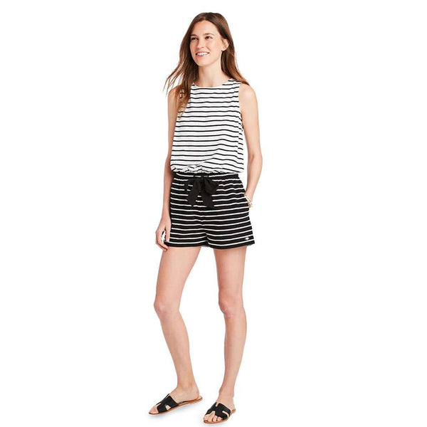 Country Club Prep Jet Black Stripe / XS