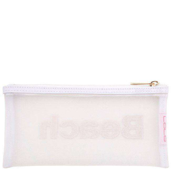 Mesh Moya Case in White with Multi-Color Stripe Beach by Lolo - FINAL SALE