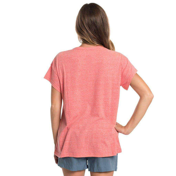 Comfy Crewneck SS in Fire Coral by The Southern Shirt Co..