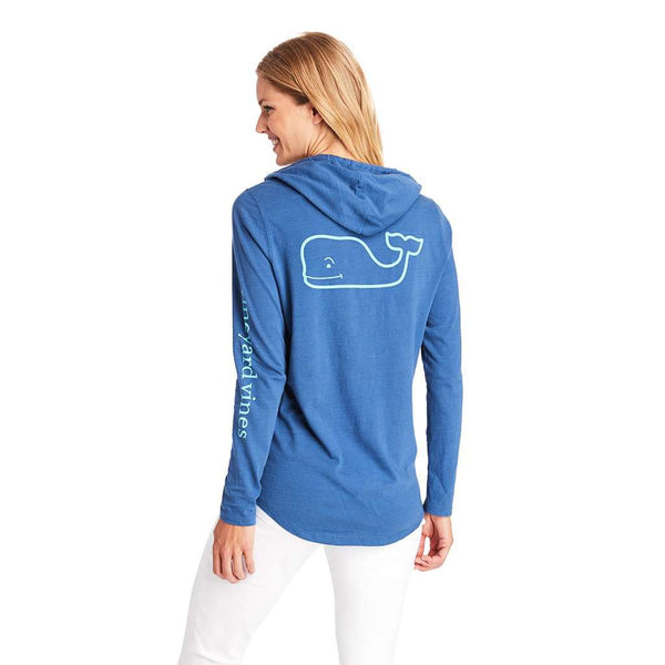 Vineyard Vines Long Sleeve Slub Whale Hoodie by Vineyard Vines