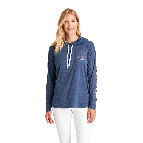 Vineyard Vines Long Sleeve Edgartown Vintage Whale Hoodie by Vineyard Vines