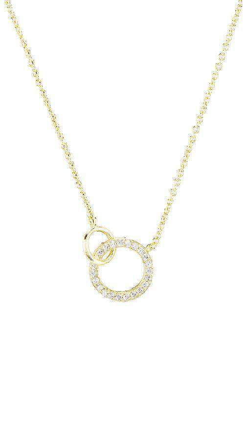 Gorjana Balboa Shimmer Interlocking Necklace (White CZ) in Gold by Gorjana