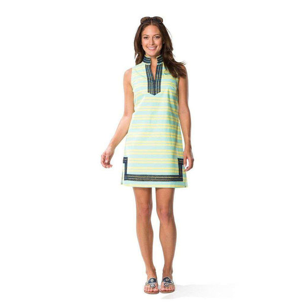 Stripe Slub Dress in Blue by Sail to Sable