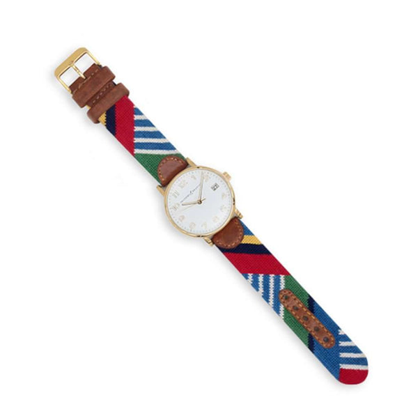 Smathers and Branson Essex Needlepoint Watch by Smathers & Branson