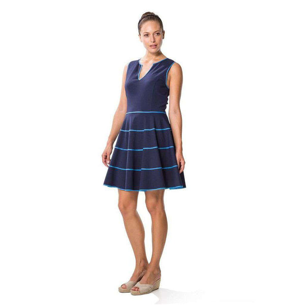 Flirty Flirty Dress in Blue Color Block by Sail to Sable