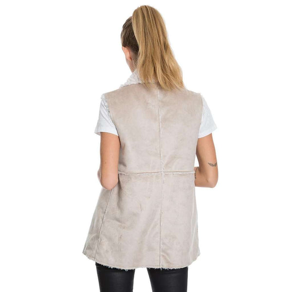 True Grit Shearling Maddy Reversible Vest by Dylan (True Grit)