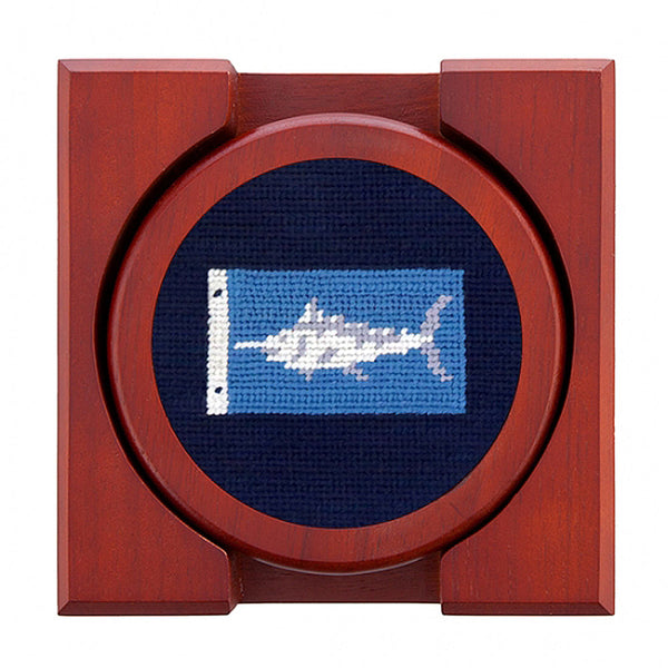 Sportfishing Flags Needlepoint Coasters by Smathers & Branson