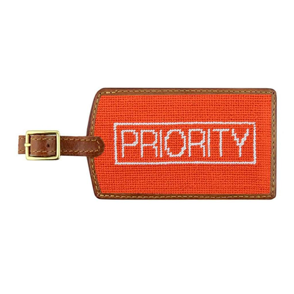 Priority Needlepoint Luggage Tag by Smathers & Branson