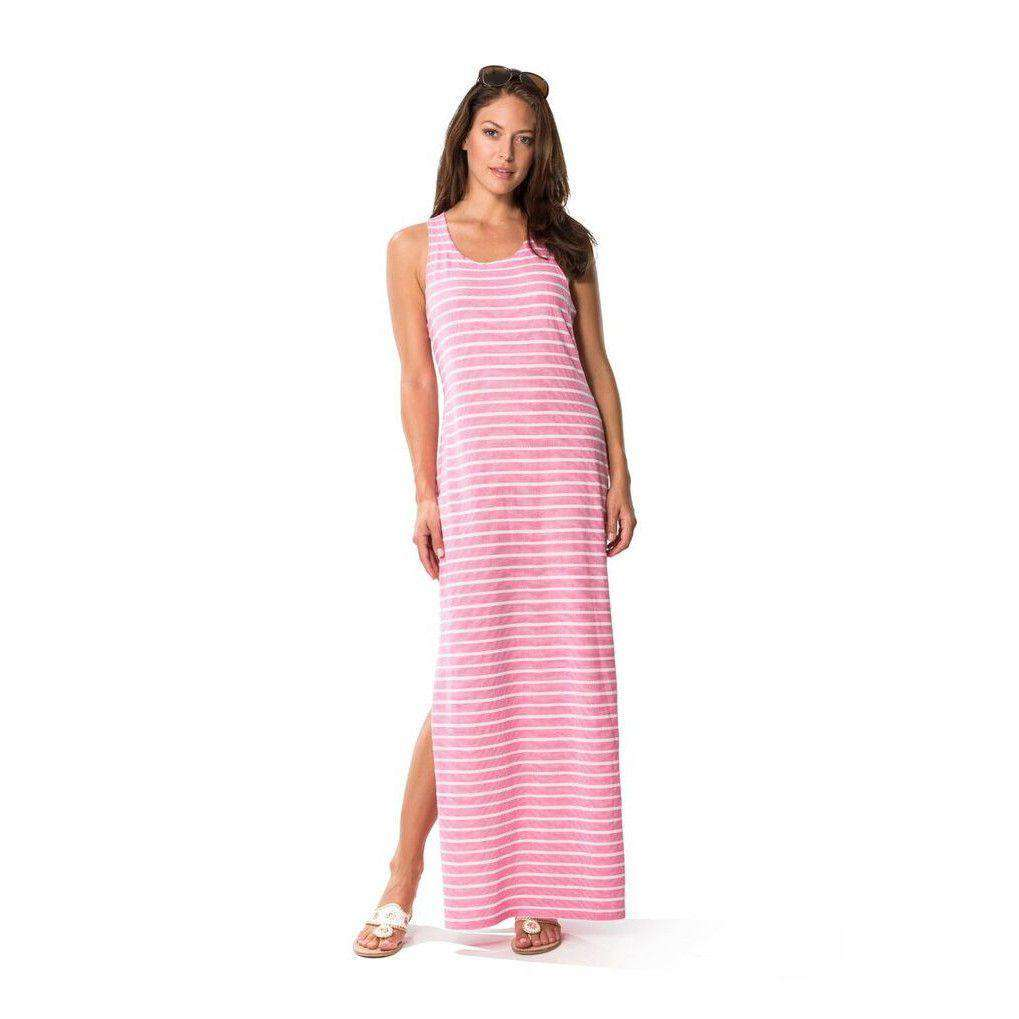 Textured Knit Stripe Maxi in Pink by Sail to Sable
