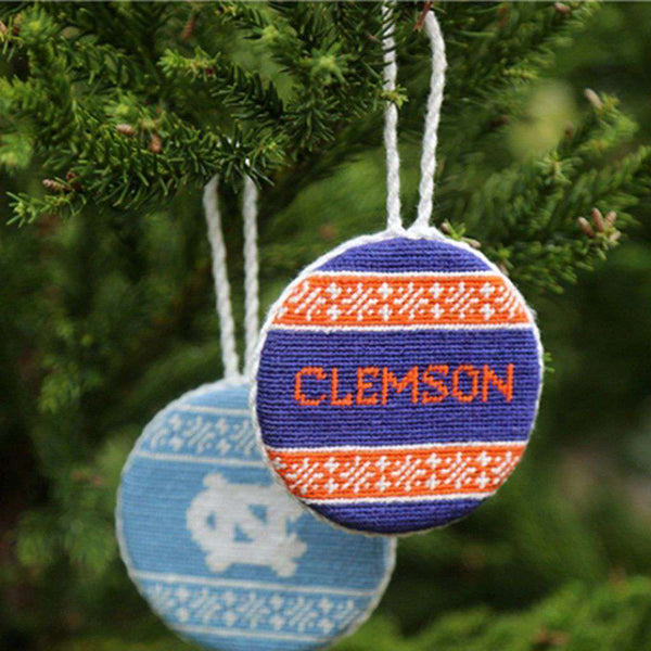 Smathers and Branson Clemson Fairisle Needlepoint Ornament by Smathers & Branson