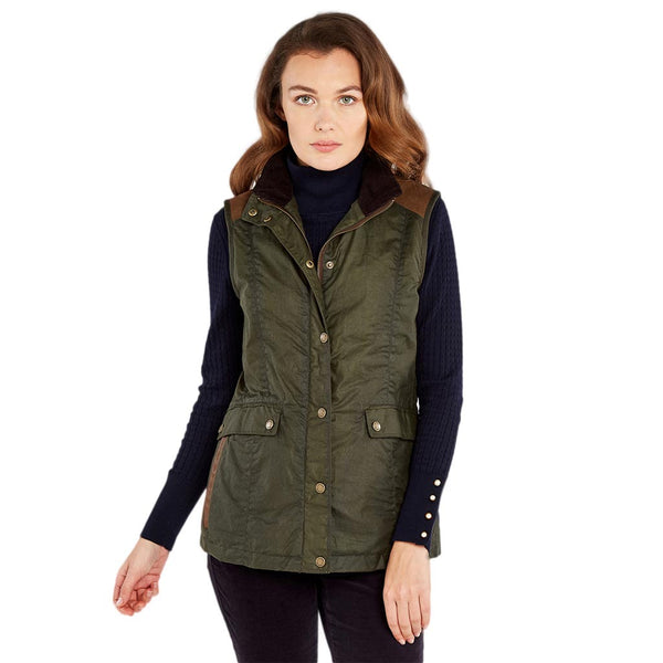 Women's Pembroke Wax Vest by Dubarry of Ireland