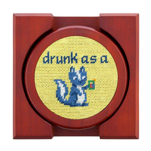 Country Club Prep Cocktail Critters Needlepoint Coaster Set by Smathers & Branson