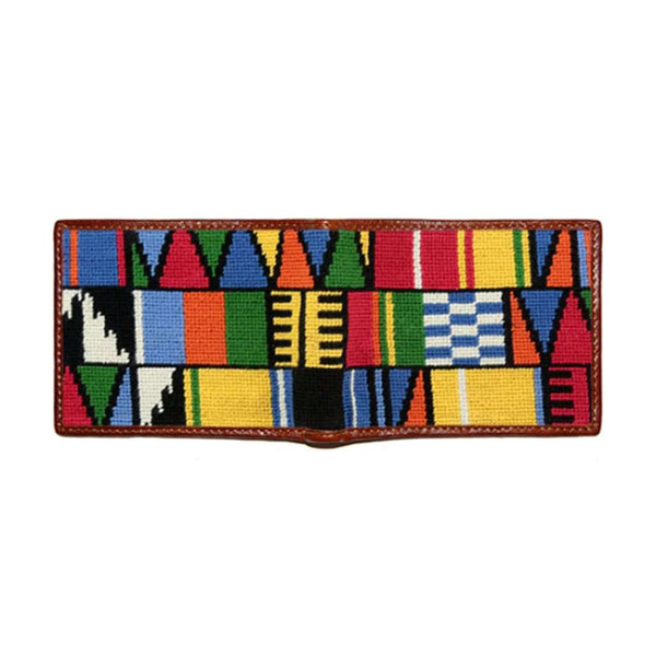 Smathers and Branson Mayan Pattern Needlepoint Bi-Fold Wallet by Smathers & Branson