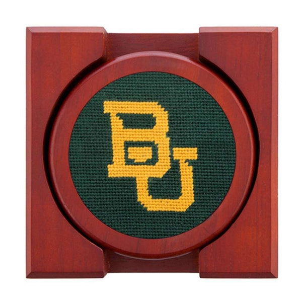 Smathers and Branson Baylor Needlepoint Coasters by Smathers & Branson