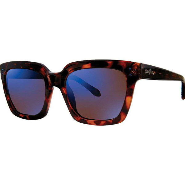 Celine Sunglasses in Dark Tortoise With Blue Lenses by Lilly Pulitzer