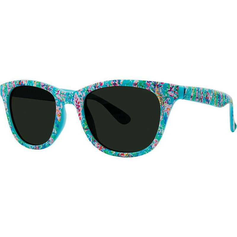 Maddie Sunglasses in Catch the Wave With Green Lenses by Lilly Pulitzer