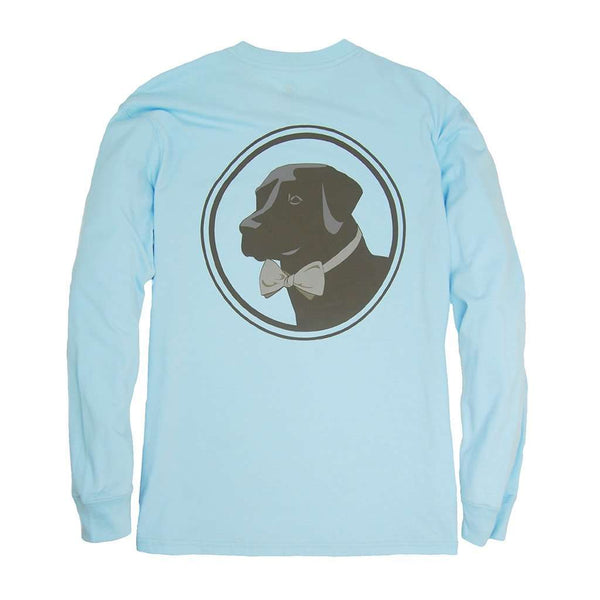 Southern Proper Long Sleeve Original Logo Tee in Country Blue