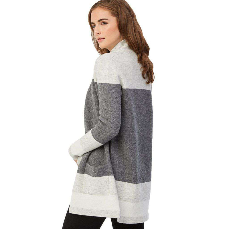 Cashmere Wool Colorblock Cardigan by 525 America