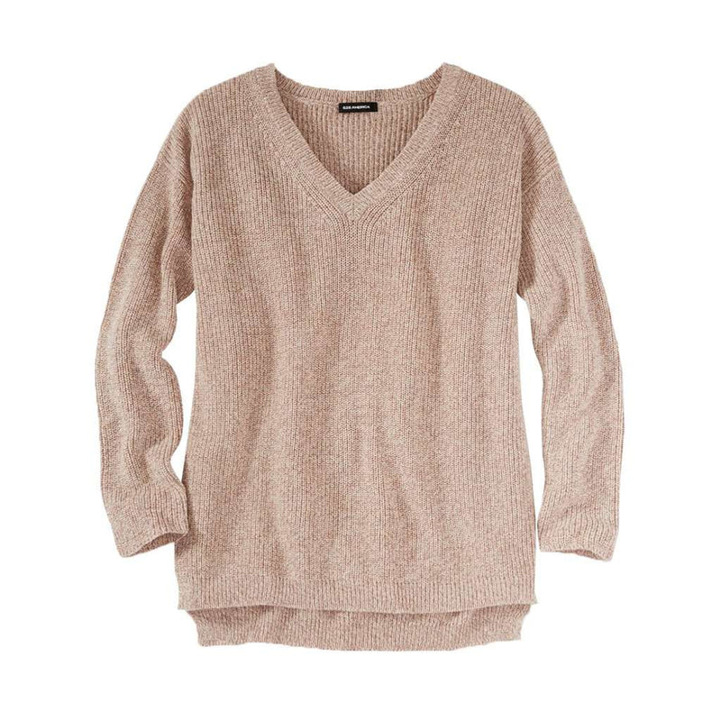 525 America V-Neck Shaker Sweater in Fawn