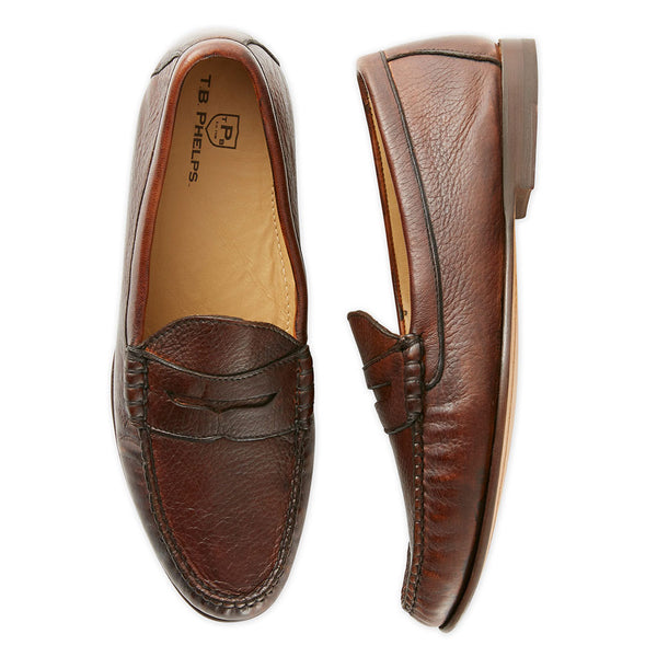 Ventura Deerskin Penny Loafer by Country Club Prep