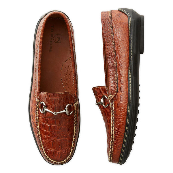 Men's Bit by a Croc Driving Shoes in Sport Rust by Country Club Prep