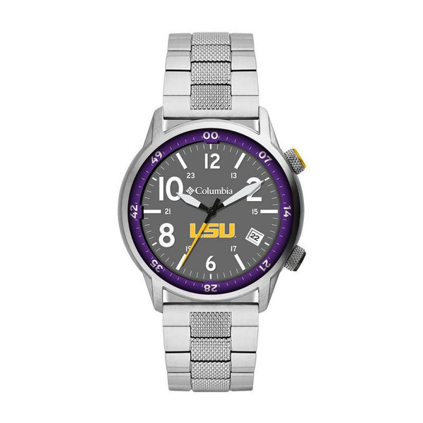 LSU Outbacker 3-Hand Date Stainless Steel Watch by Columbia Sportswear