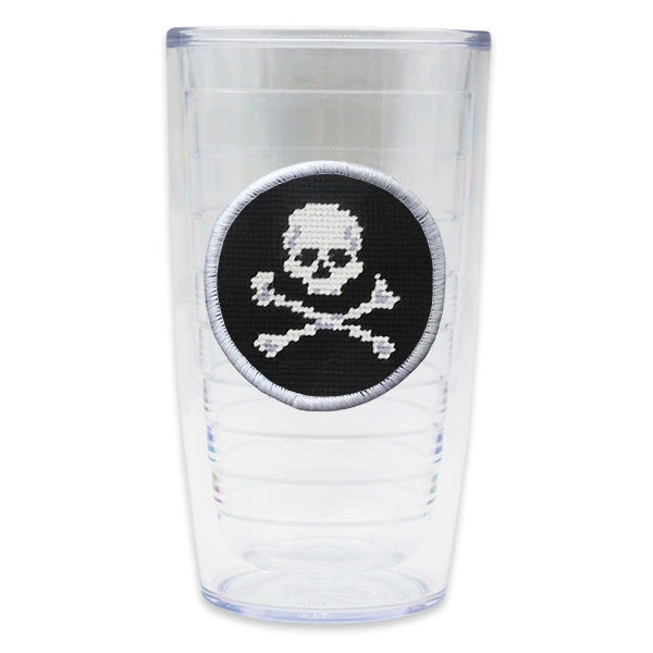 Jolly Roger Tumbler Needlepoint Tumbler by Smathers & Branson