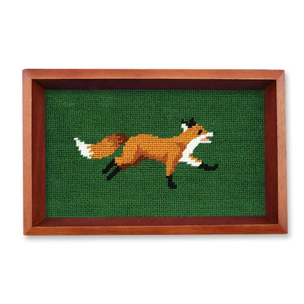 Fox Needlepoint Valet Tray by Smathers & Branson
