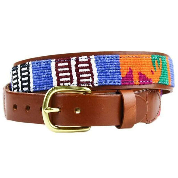 Guatemalan Leather Back Belt by Country Club Prep
