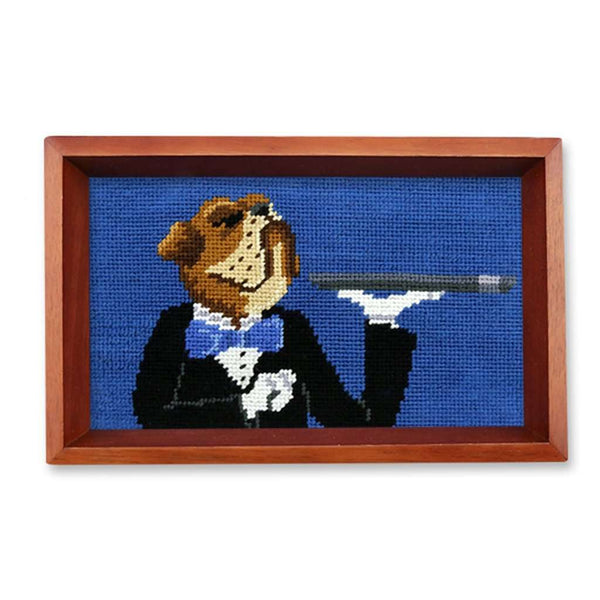 Doggy Butler Needlepoint Valet Tray by Smathers & Branson
