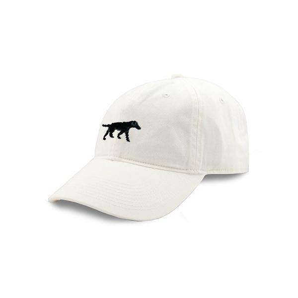 Smathers and Branson Black Lab Needlepoint Hat in White by Smathers & Branson