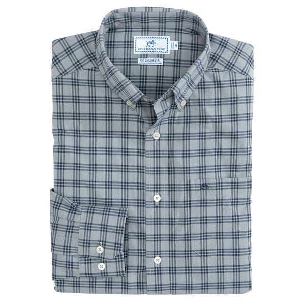 Intercoastal Heather Check Performance Sportshirt by Southern Tide