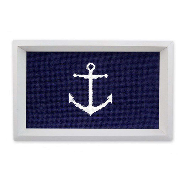 Anchor Needlepoint Valet Tray by Smathers & Branson