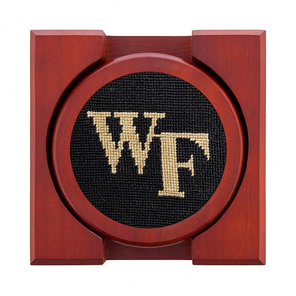 Wake Forest Needlepoint Coasters by Smathers & Branson