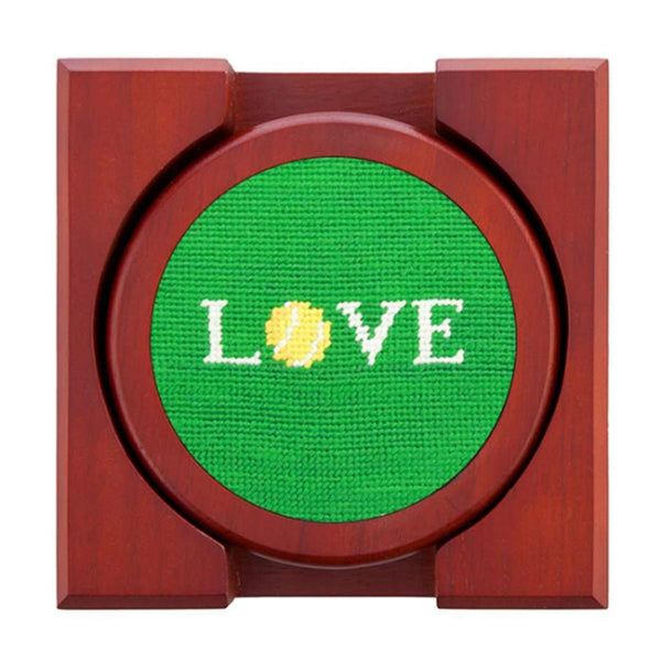 Love All Needlepoint Coasters by Smathers & Branson