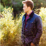 Maritime Wax Jacket in Blue Depths by Southern Tide  - 2