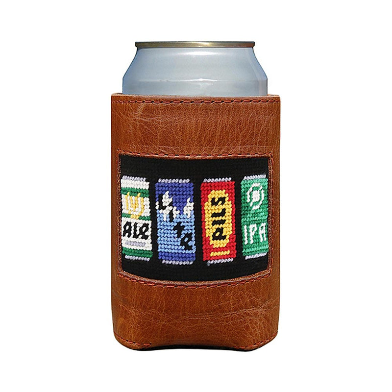 Beer Cans Needlepoint Can Holder by Smathers & Branson