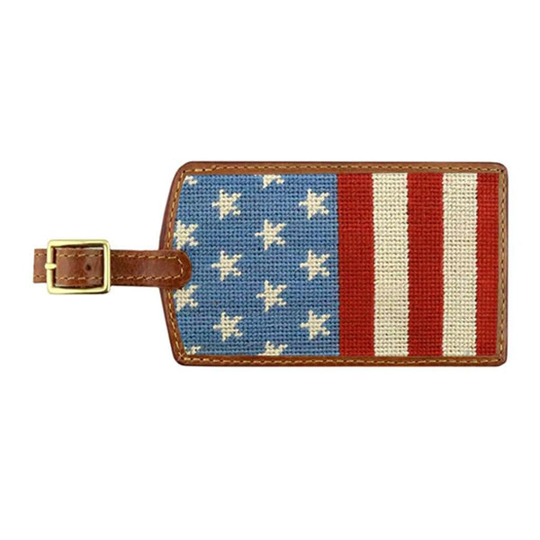Stars and Stripes Needlepoint Luggage Tag by Smathers & Branson