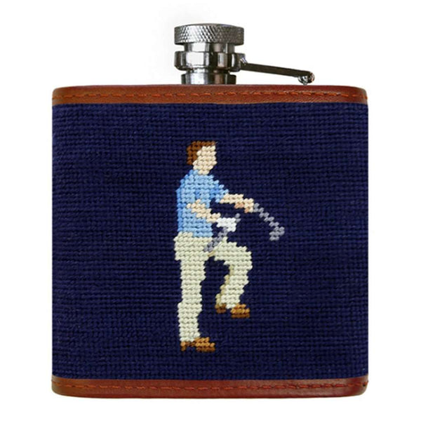 Mulligan Needlepoint Flask by Smathers & Branson