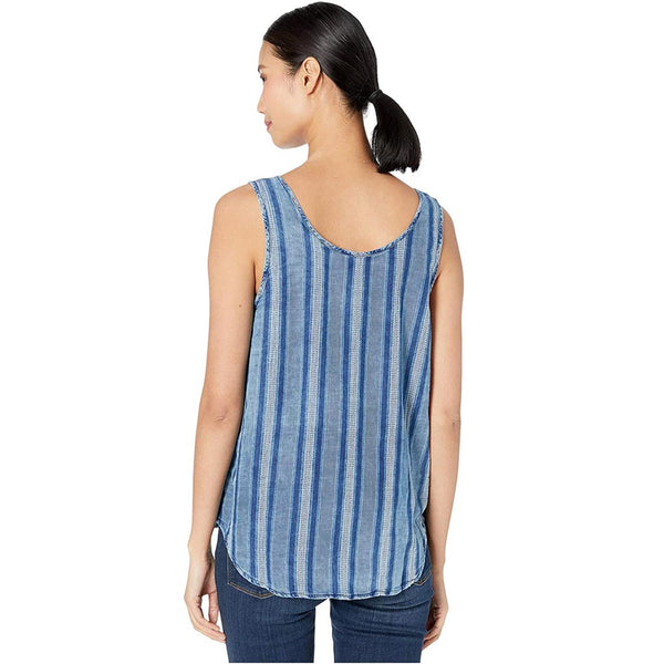 Indigo Cotton Wyatt Denim Top by True Grit (Dylan)