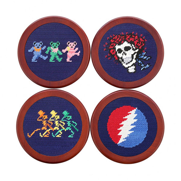 Grateful Dead Life Needlepoint Coasters by Smathers & Branson