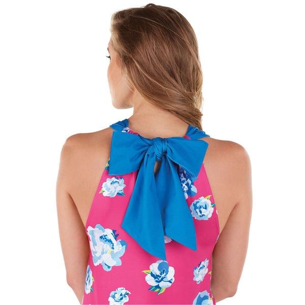 The Natalie Bow Tie Dress in Pink Floral by Mud Pie - FINAL SALE