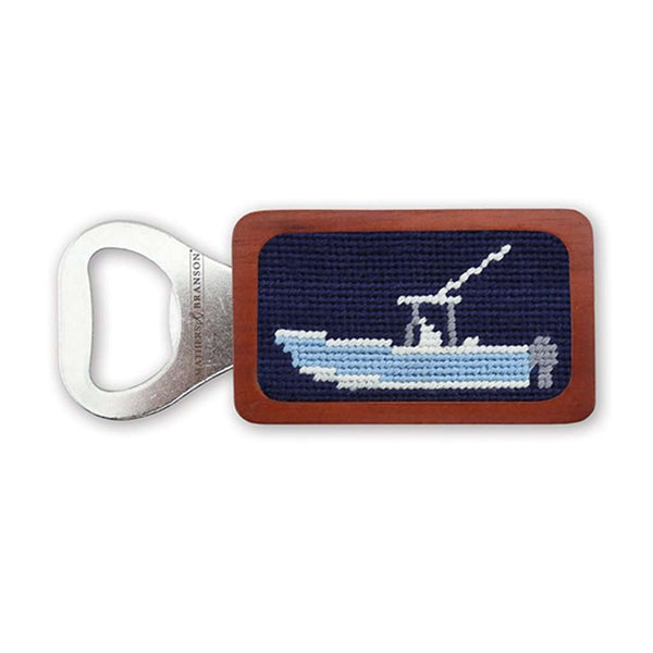 Power Boat Needlepoint Bottle Opener by Smathers & Branson