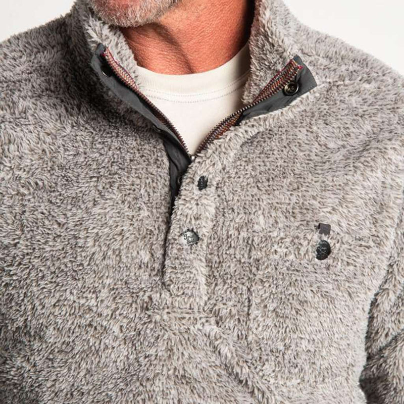 True Grit Melange Shag Sherpa Snap Pullover by True Grit