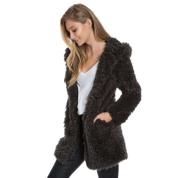 True Grit Fluffy Sherpa Hood Coat by Dylan (True Grit)