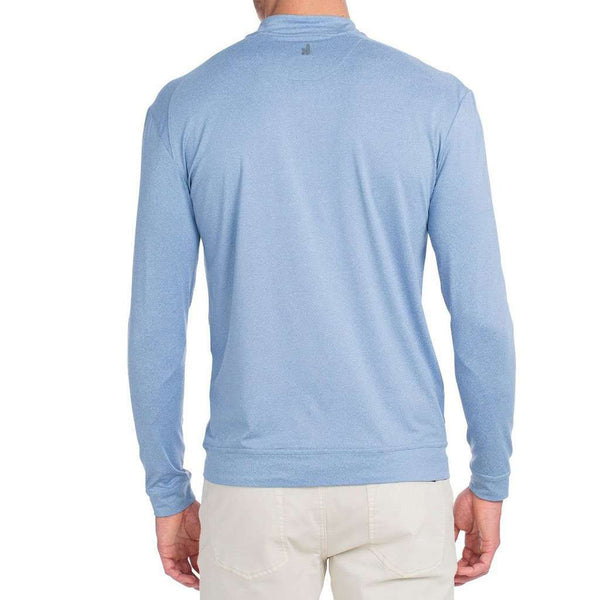 Longshanks Flex Prep-Formance 1/4 Zip Pullover in Laguna Blue by Johnnie-O