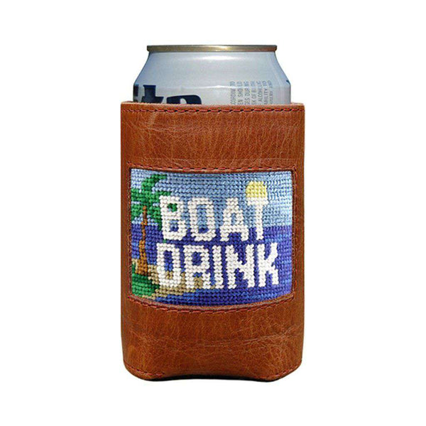 Smathers & Branson Boat Drink Needlepoint Can Cooler